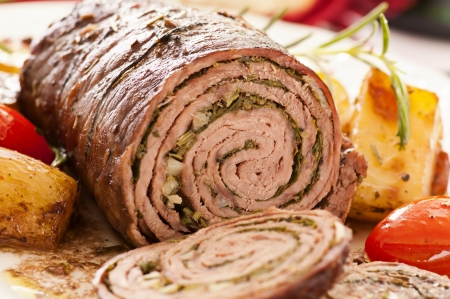 roulade: roulade with herbs filling