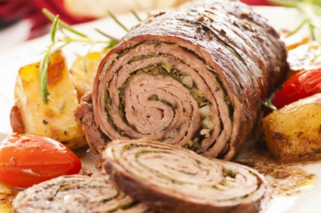 roulade: Roulade with roasted vegetables