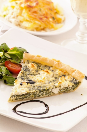 tarte with spinach and feta photo