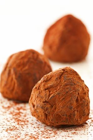 marzipan: chocolate truffles