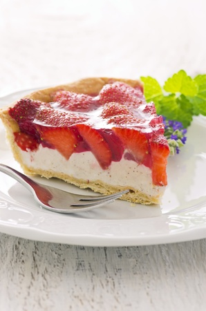 tartlet: strawberry cake with ricotta