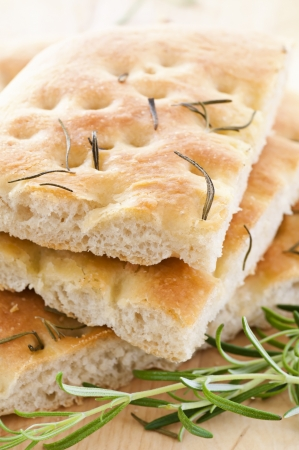 Focaccia with rosemary photo