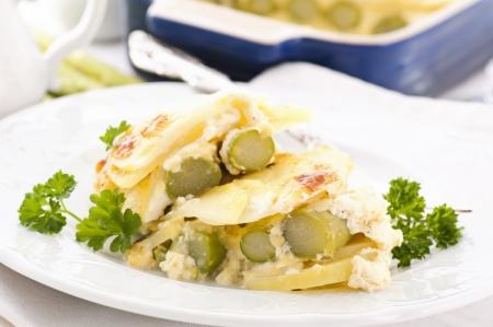 Potato with asparagus Stock Photo - 14450417