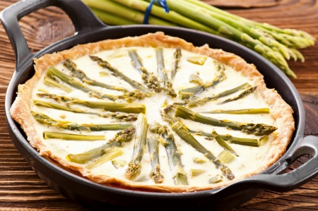 Asparagus tarte  photo