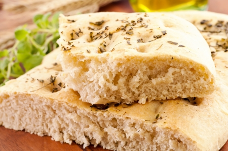 specialty: focaccia with fresh herbs