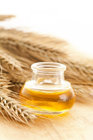 aromatherapy oils: wheat germ oil Stock Photo