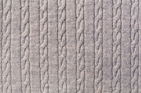 knitted cable pattern  photo