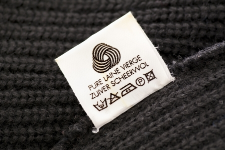 wool care symbol photo