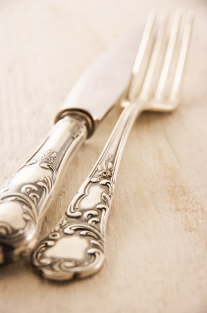 antique silverware photo