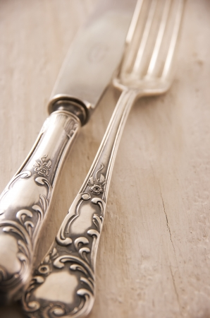 silver plated: silver cutlery