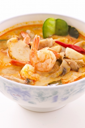 Tom yam nam khon soup Stock Photo - 14867862