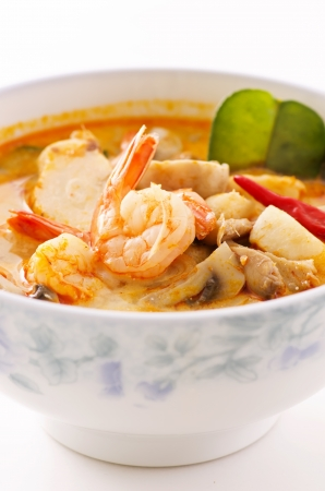spicy tom yum soup photo