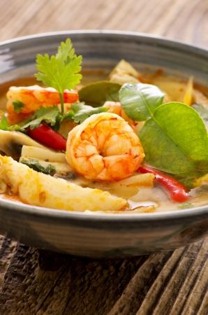 tom yam nam khon soup photo