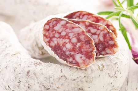 air dried mould salami photo