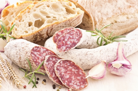 air dried salami: italian specialities