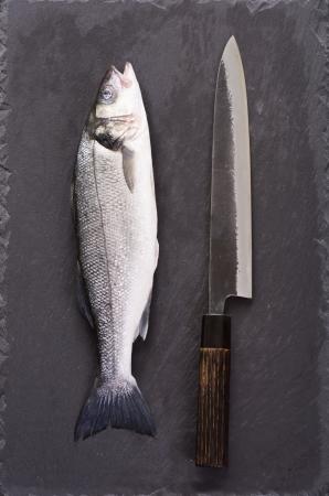 Fish and sujihiki knife photo
