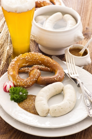 bavarian white sausage breakfast Stock Photo - 14868051