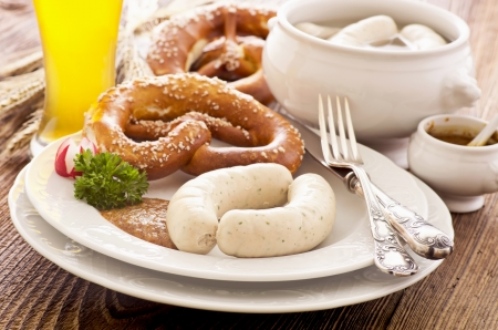 bavarian veal sausage breakfast photo