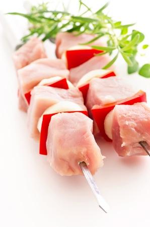 Shashlik made of pork fillet Stock Photo - 14867845