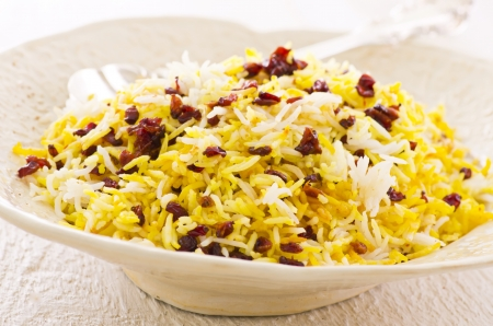 saffron: persian saffron rice with berberis