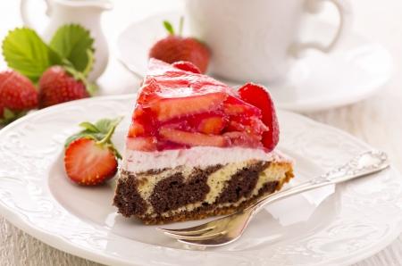 gelatina: pastel de fresa