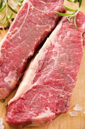 beef steaks closeup photo