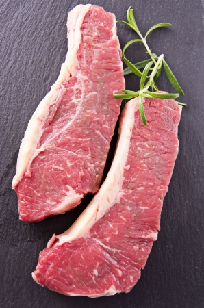 raw beef: beef steaks Stock Photo