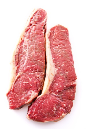 beef steak isolated photo
