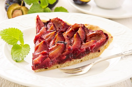 made in germany: plum pie zwetschgenkuchen Stock Photo