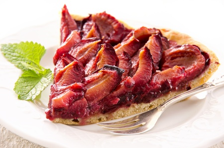 made in germany: plum pastry Stock Photo
