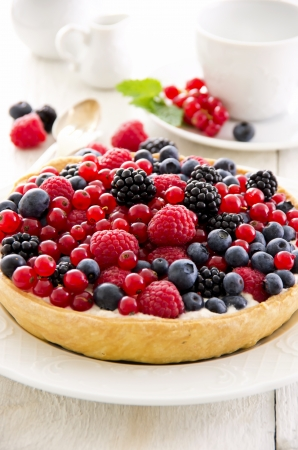 pastry with berries different sorts Stock Photo - 16269023