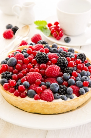 Tarte with different berries photo
