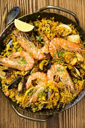 marisco: seafood paella  Stock Photo