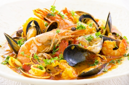 italian seafood soup cioppino photo