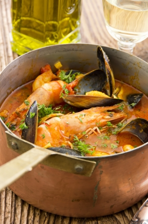 seafood stew in casserole photo
