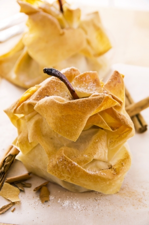 pears baked in crisp dough Stock Photo - 17176420