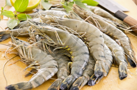 gambas: black tiger prawns
