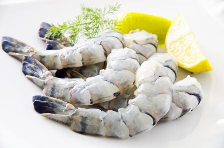 gambas: king prawns Stock Photo