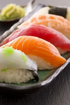 nigiri: sushi on the plate