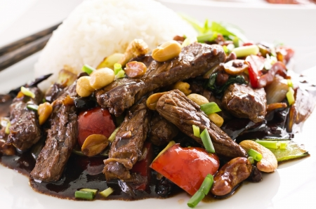 indonesian food: chinese beef in spicy sauce