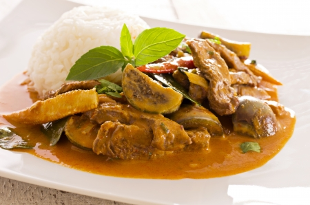 beef curry: red thai curry