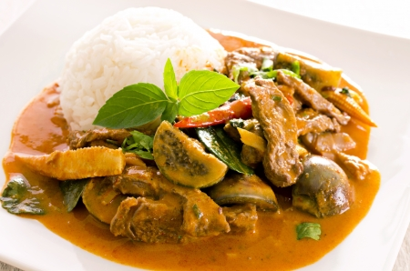 beef curry: thai red curry