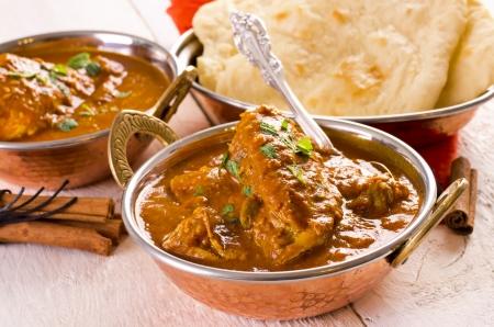 tandoori chicken: chicken masala with the chapati bread