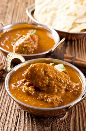 tandoori chicken: chicken curry in the bowl