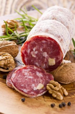 italian salami: walnut salami