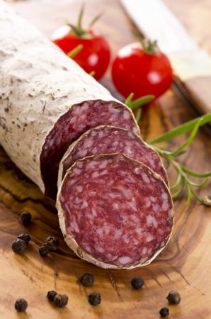 air dried salami: cervine salami