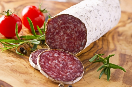 cured: deer salami