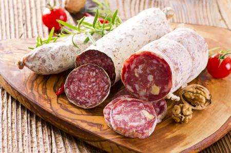 air dried salami: salami different sorts