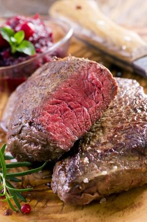 fillet steak: beef steaks Stock Photo