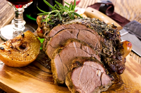 roulade: lamb roast Stock Photo